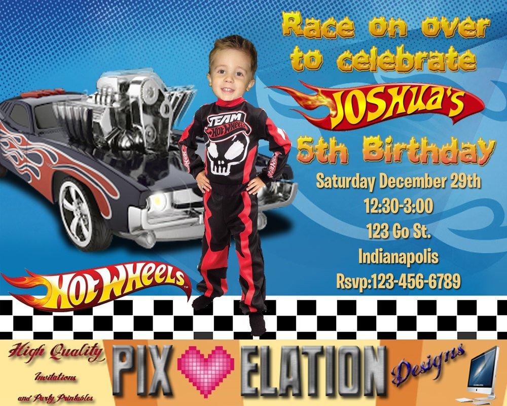 Hot Wheels Birthday Invitations Free Printable Birthday Invitation Templates Bagvania