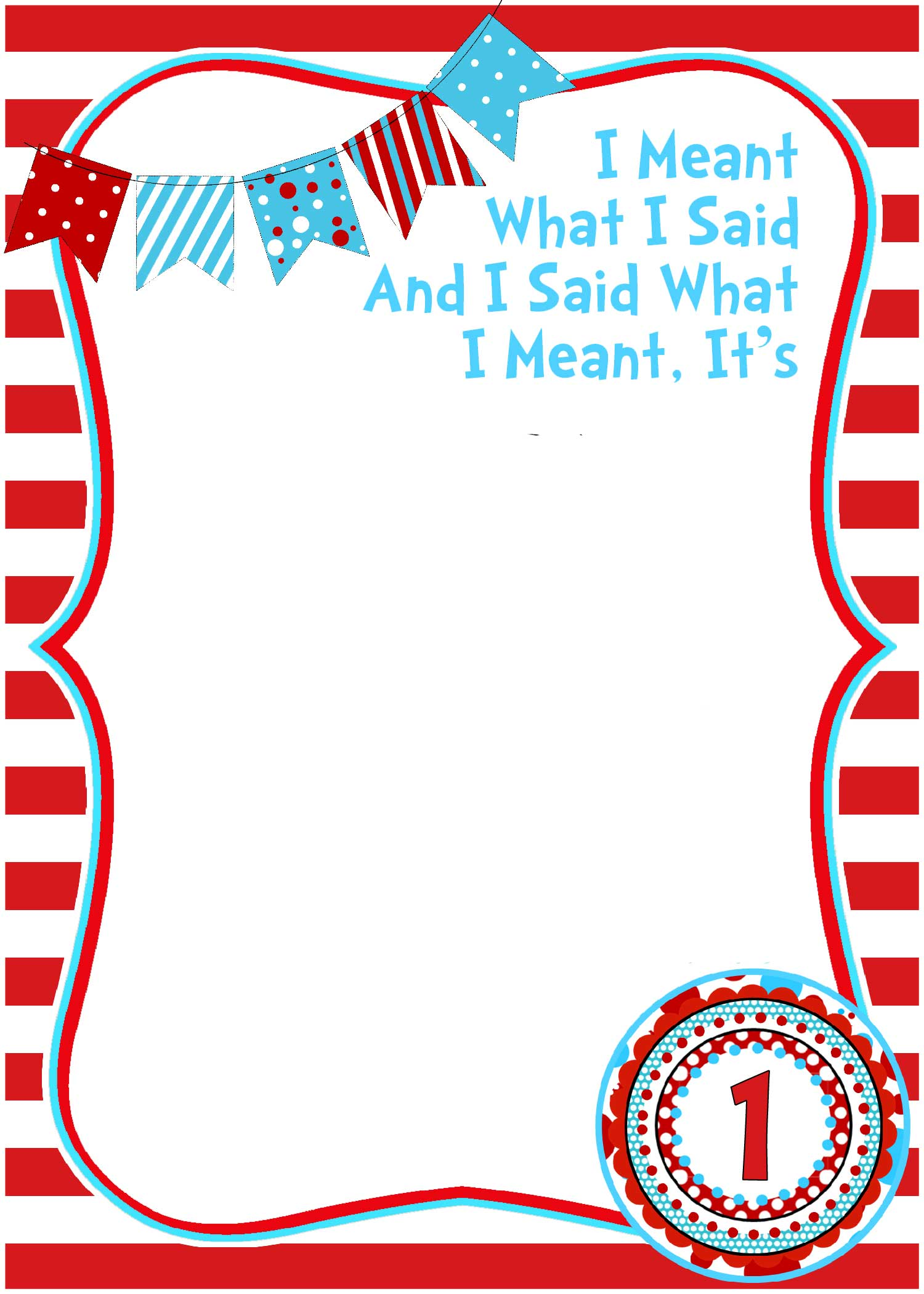 Free Printable Druss Cat In The Hat Invitation