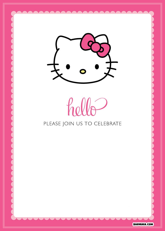 Free Printable Hello Kitty Birthday Invitations Bagvania