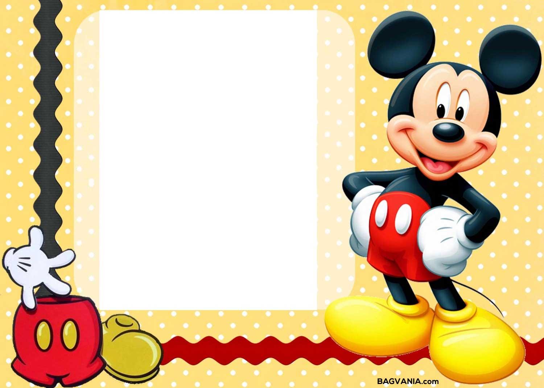 Free Printable Mickey Mouse Birthday Invitations Free Printable Birthday Invitation Templates Bagvania