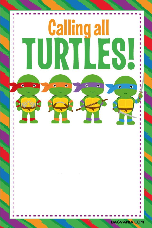 free printable ninja turtle birthday
