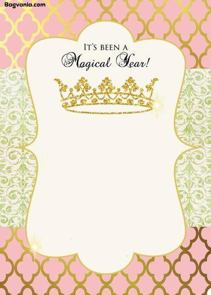 Free Princess Birthday Invitations Bagvania