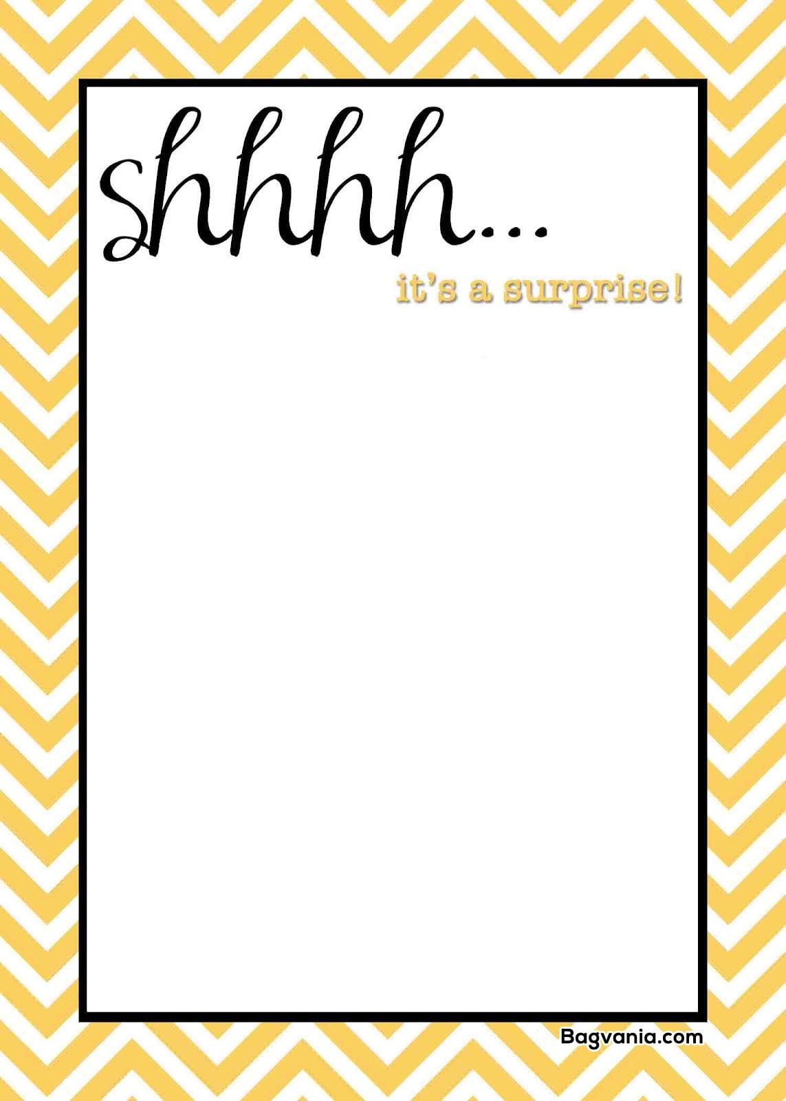 Free Printable Surprise Birthday Invitations Free