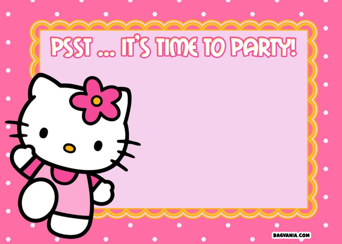 free printable hello kitty birthday