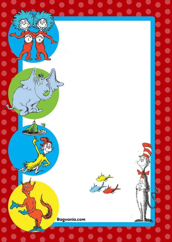 dr seuss birthday invitations