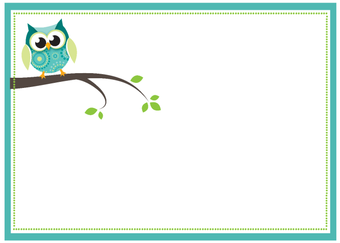 Owl Blue Template Free Printable