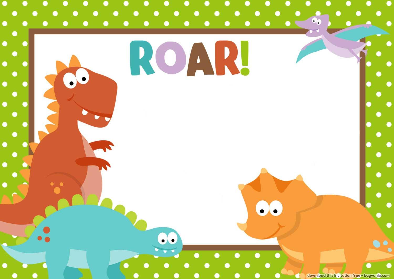 Free Dinosaur Birthday Invitations Free Printable Birthday Invitation Templates Bagvania