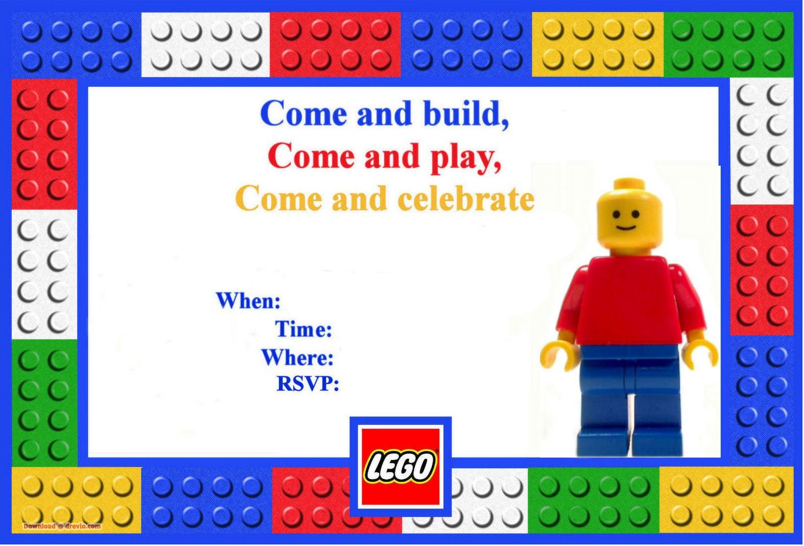 Free Lego Birthday Invitations Free Printable Birthday Invitation Templates Bagvania