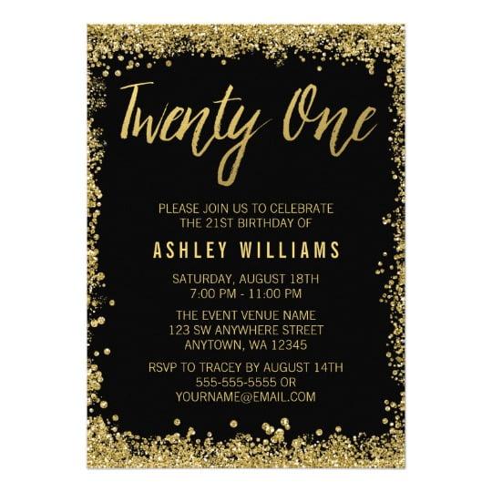 free 21st birthday invitations wording