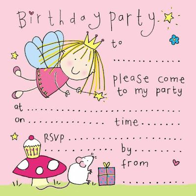 birthday party invitations for girl
