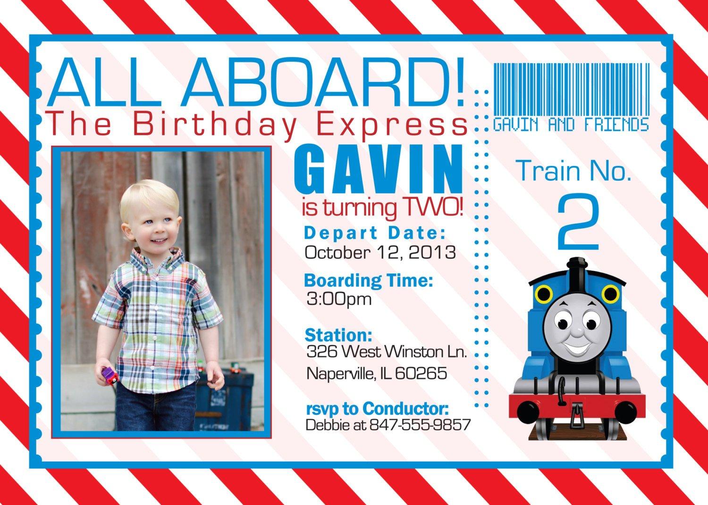 train birthday invitations