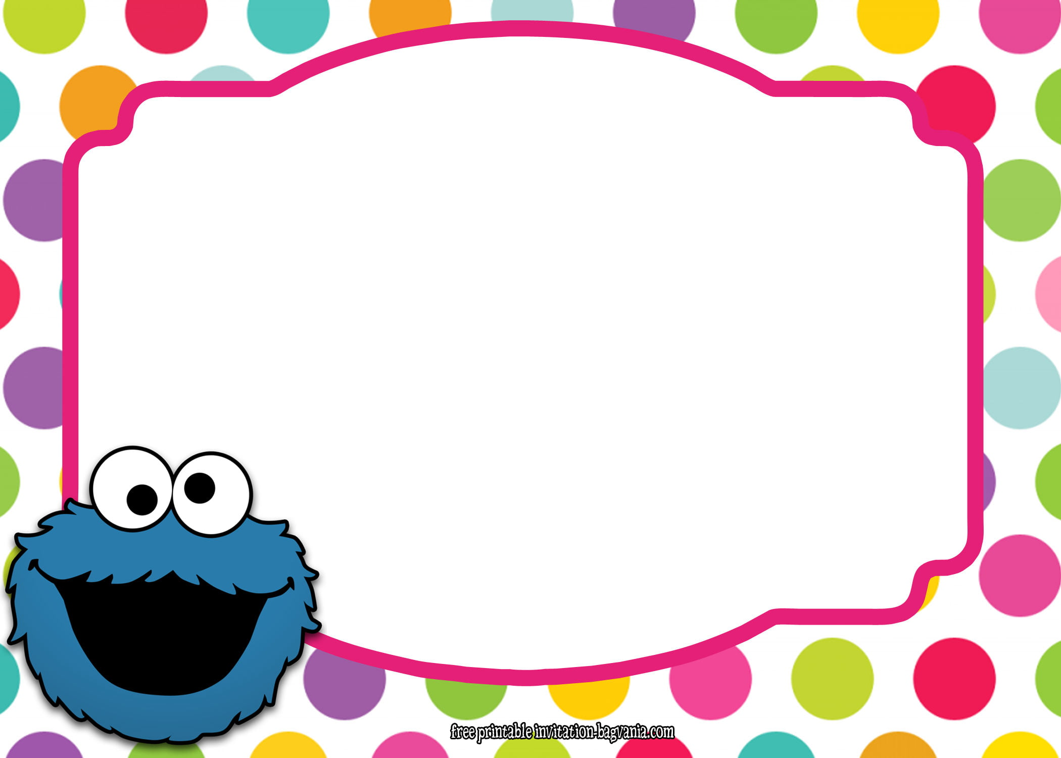 Sesame Street All Characters Invitation Template Bagvania