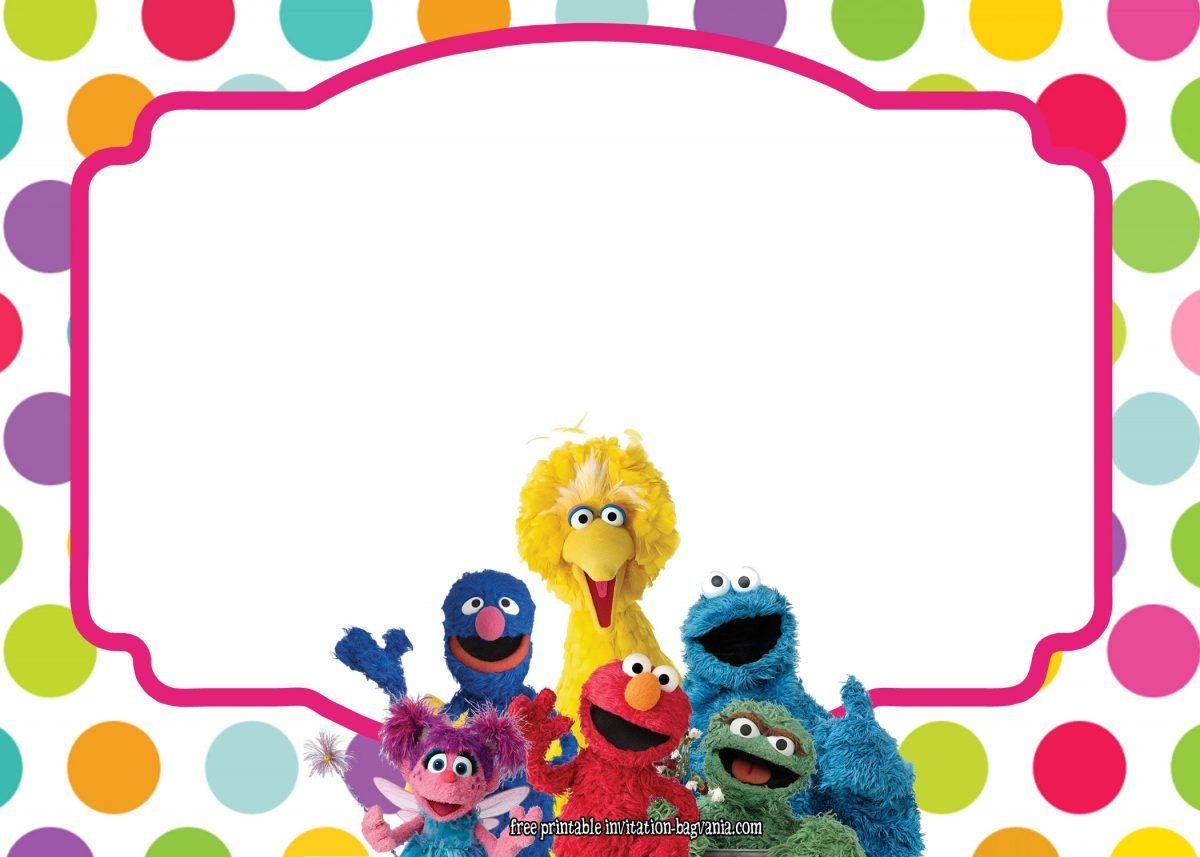 Sesame Street All Characters Invitation Template FREE