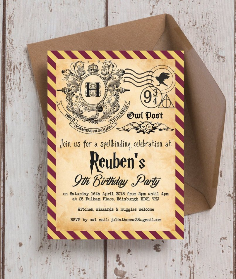 Printable Party Invitations Harry Potter | Inviview.co