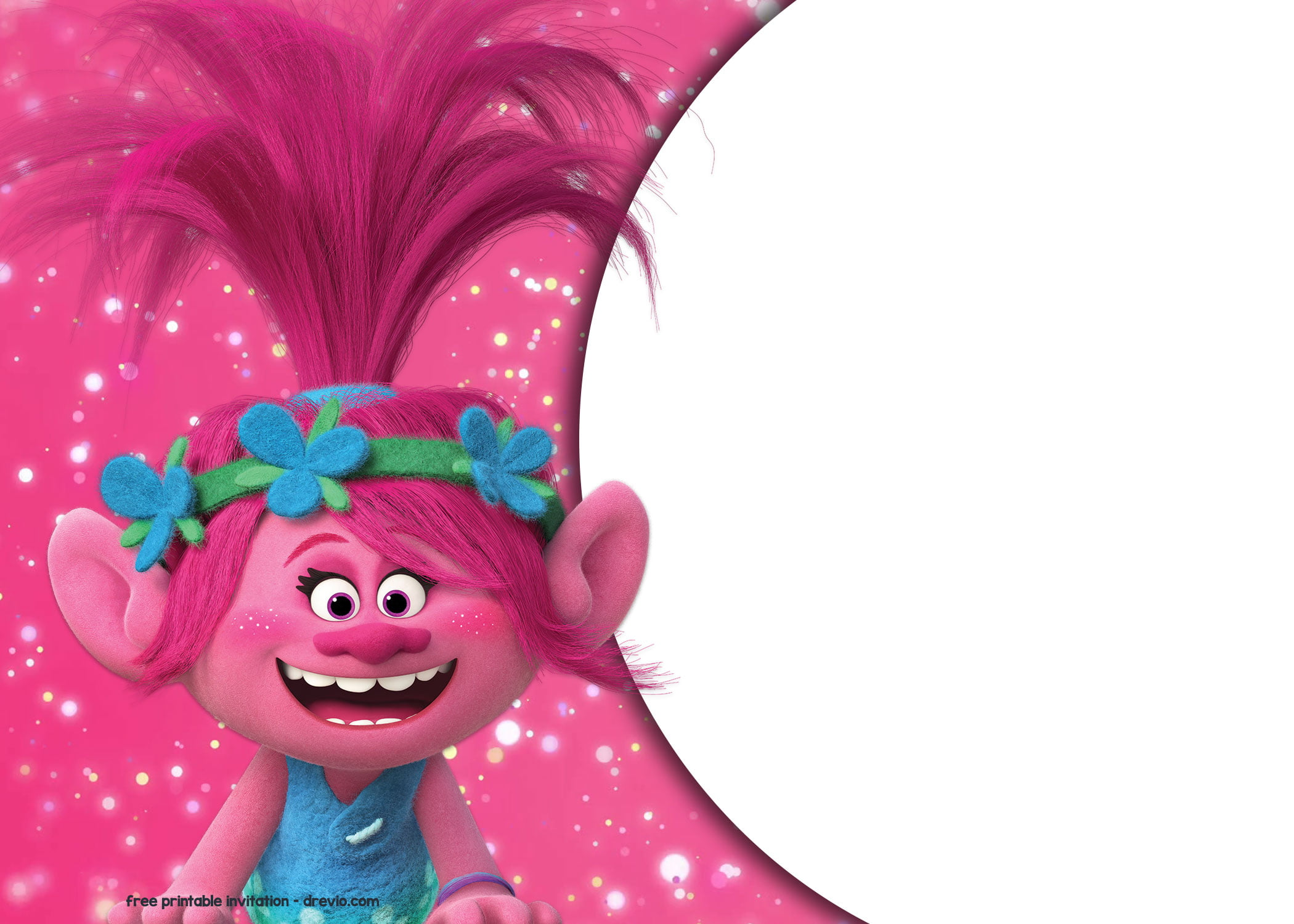 FREE Trolls Birthday Invitation Templates FREE Printable Birthday Invitation Templates Bagvania