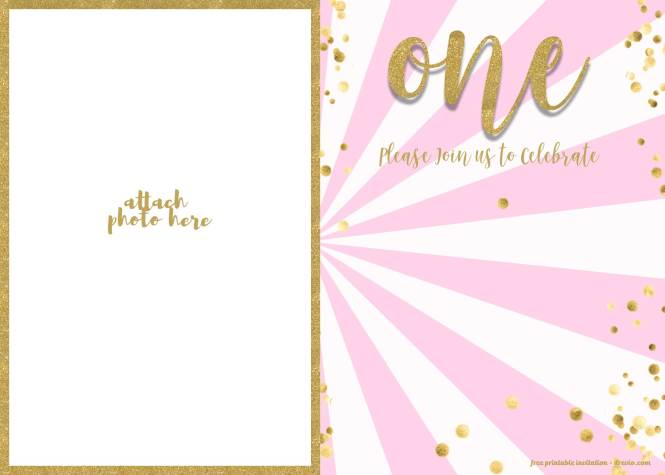 Free 1st Birthday Invitations Template