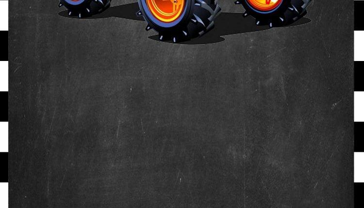 FREE Monster Truck Invitation Template 1 FREE Printable Birthday Invitation Templates Bagvania