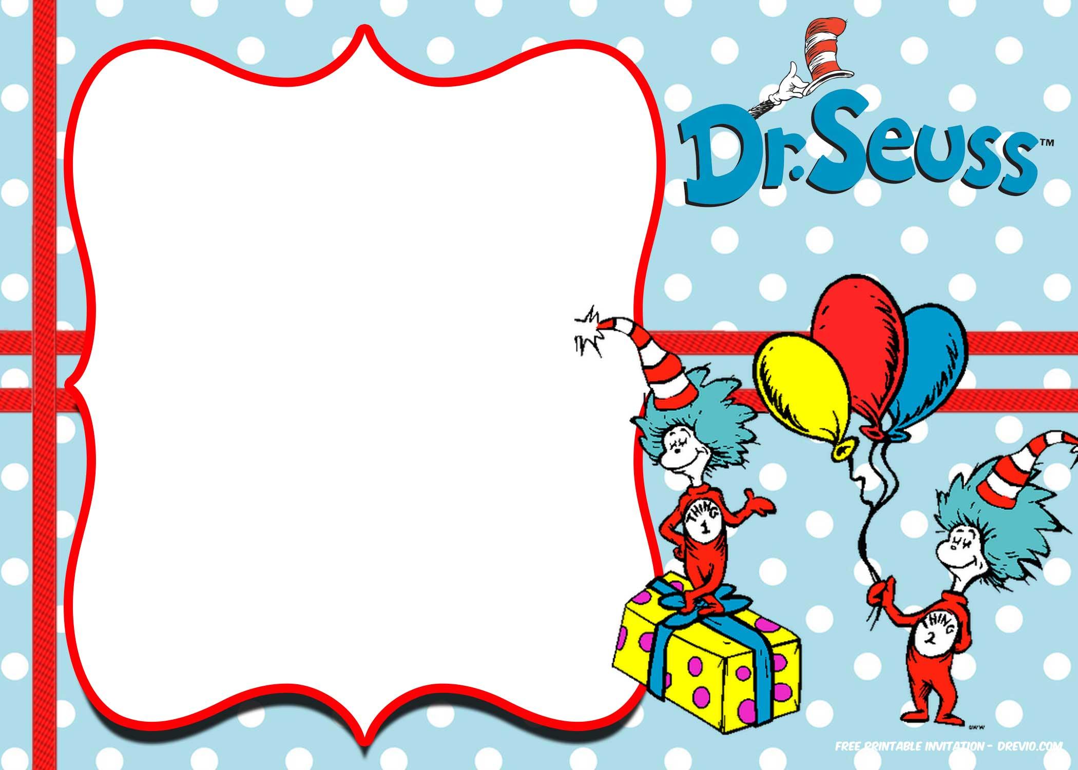 Free Dr Seuss Invitation Templates Printable Free