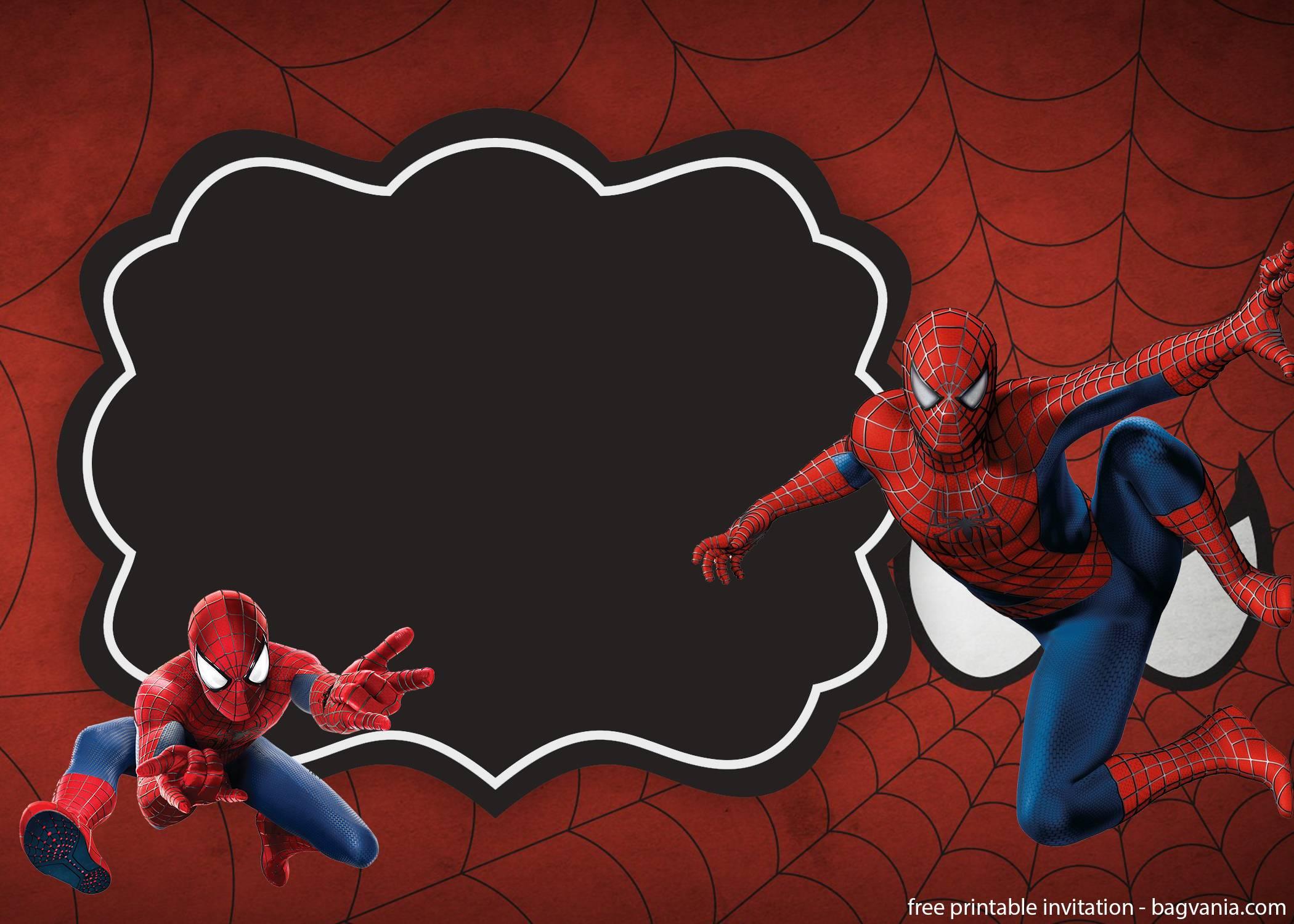 free download superheroes invitation