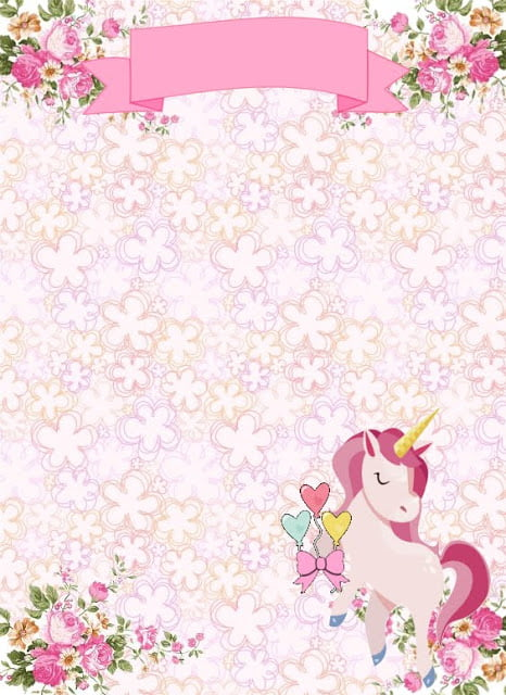 free printable floral unicorn