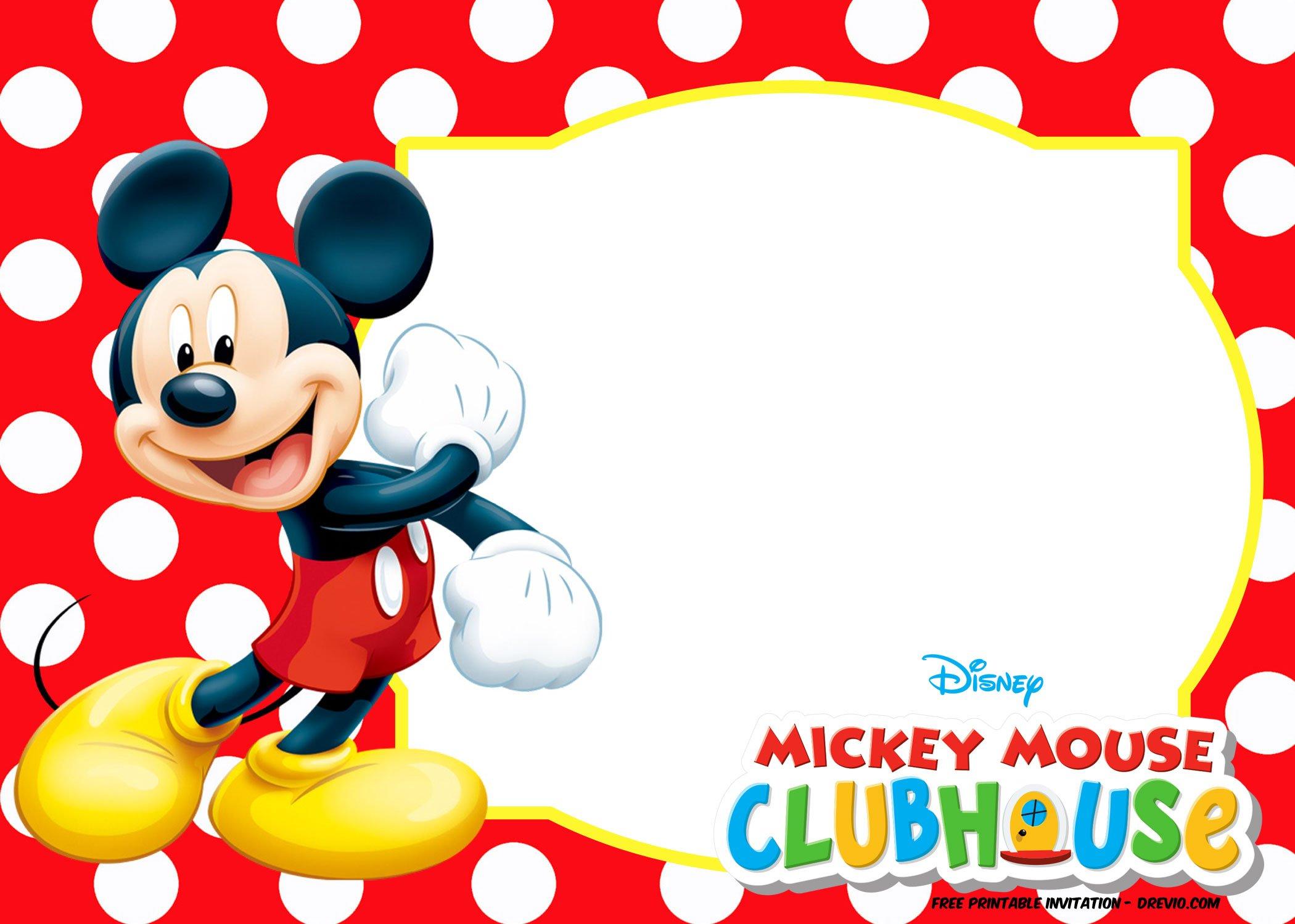 Free Mickey Mouse And Friends Invitation Template Free Printable Birthday Invitation Templates Bagvania