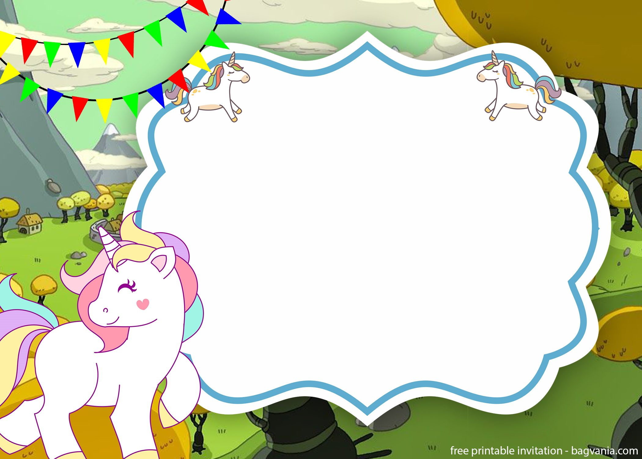free unicorn invitation template free