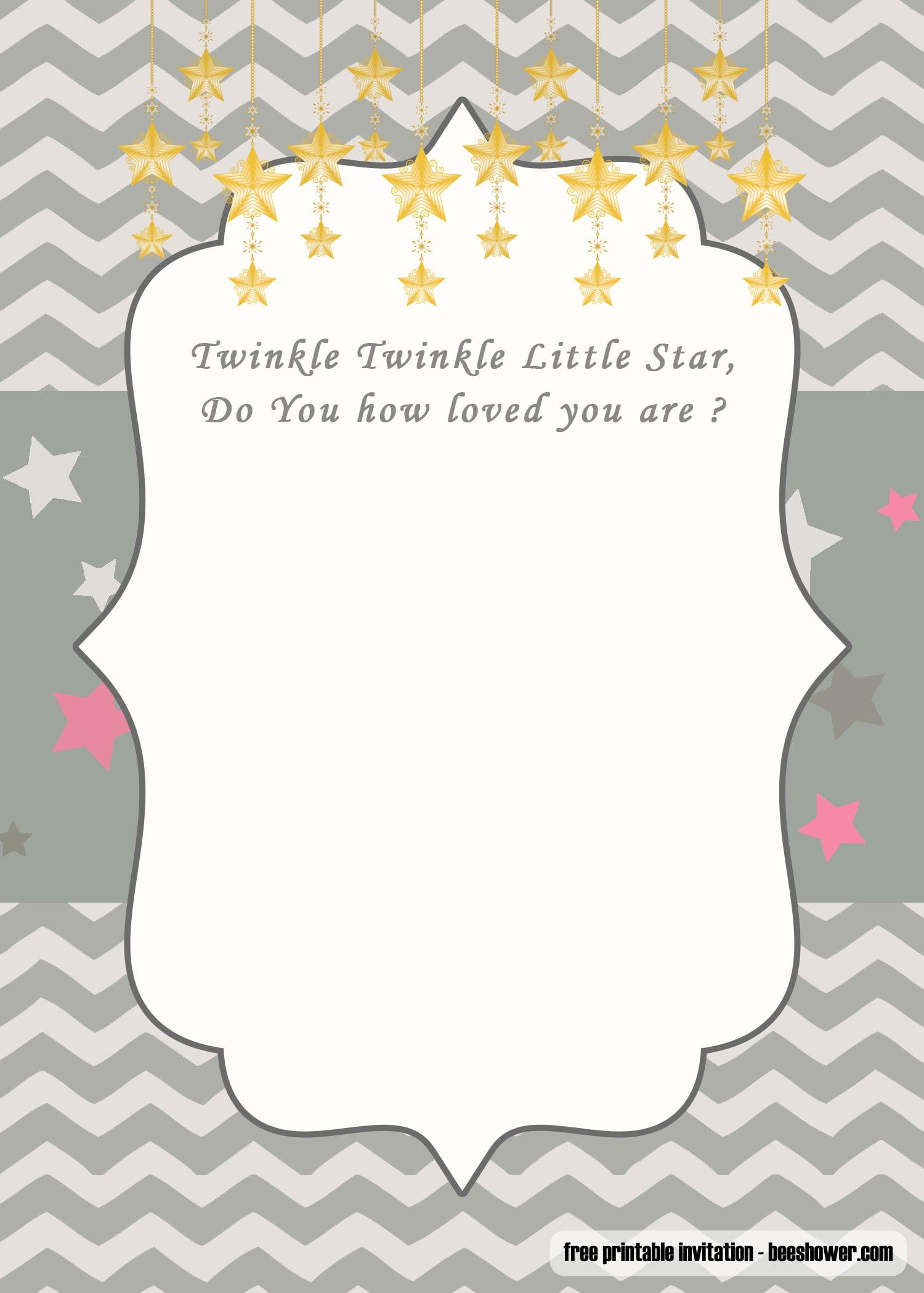 star baby shower invitations