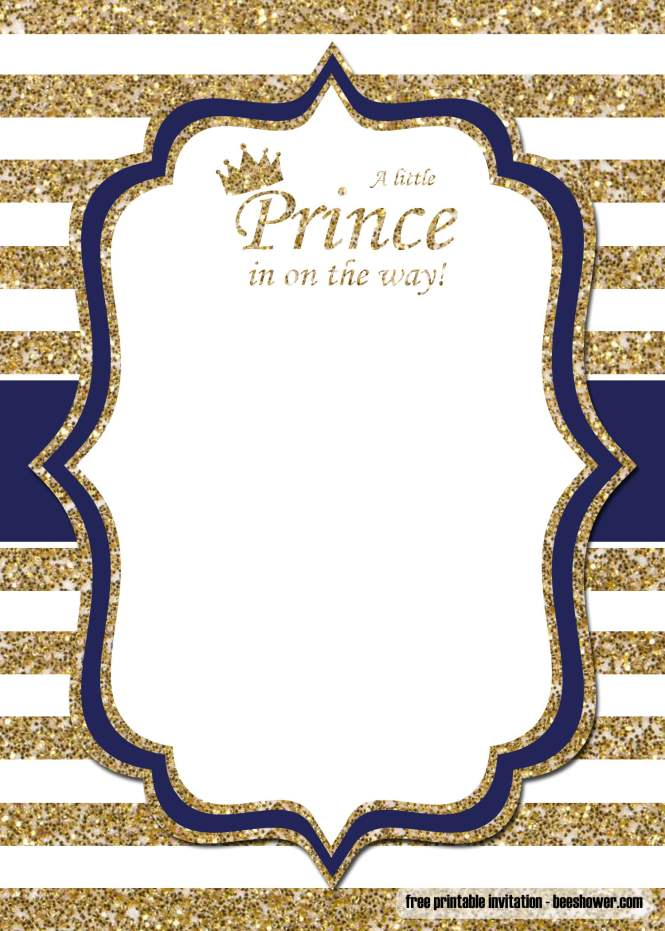 Free Prince Baby Shower Invitations