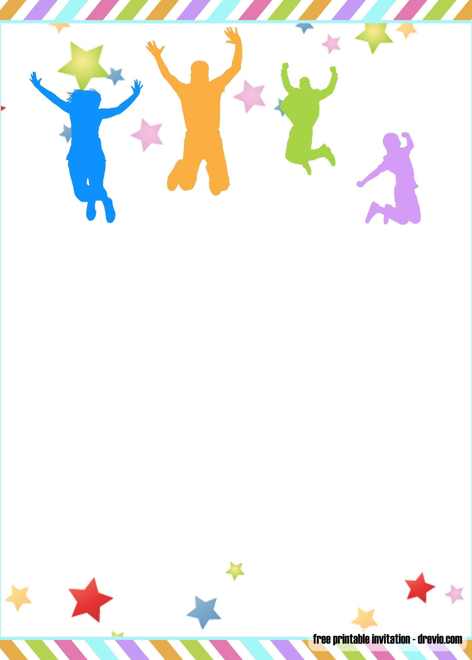 Free Printable Trampoline Jump Birthday Invitation Templates Free Printable Birthday Invitation Templates Bagvania