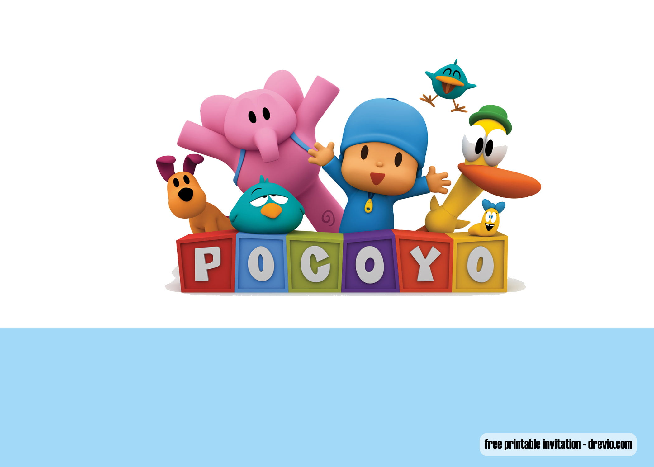 Free Printable Pocoyo Invitation Templates Free