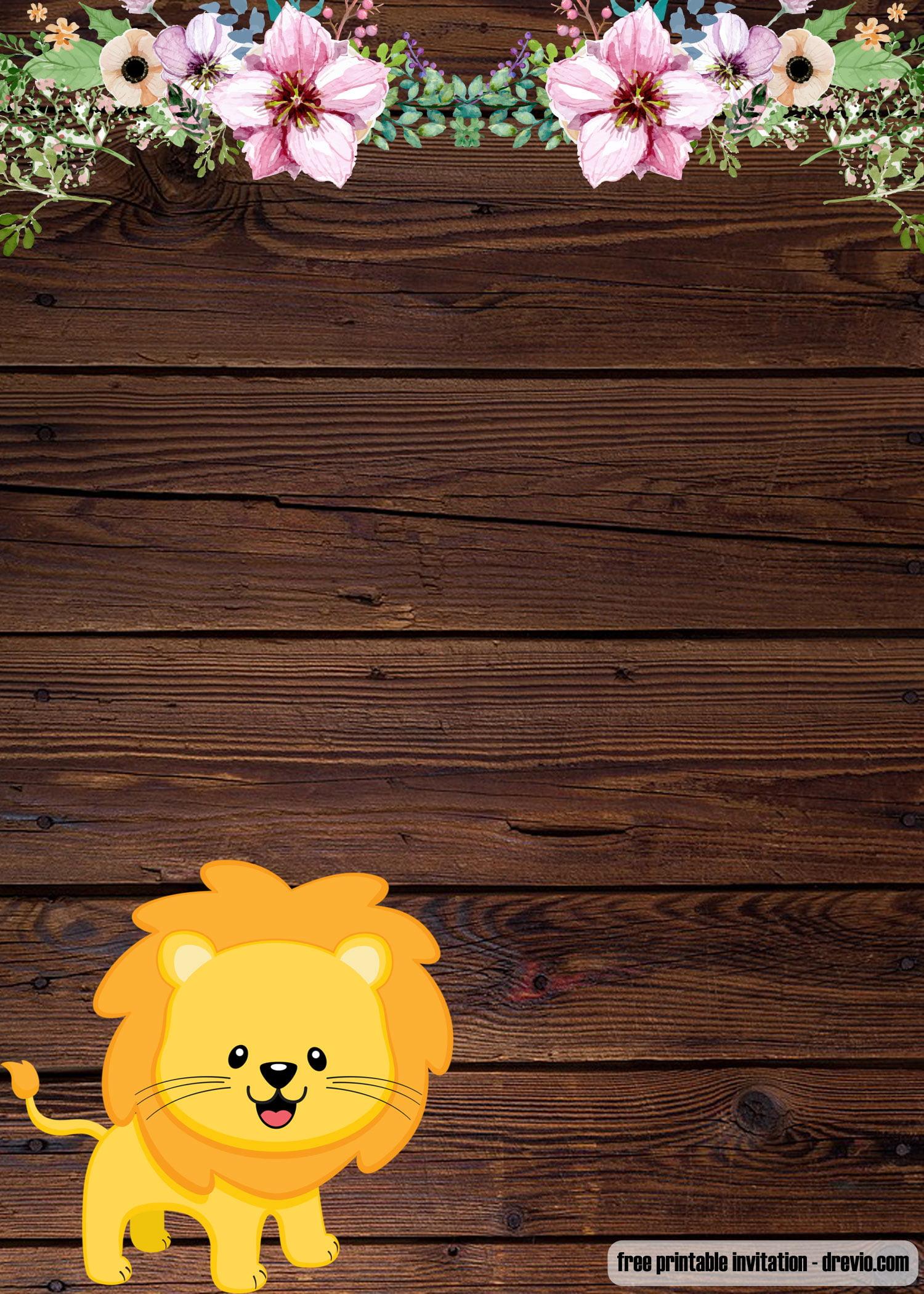 Free Printable Baby Lion Invitation Templates Free