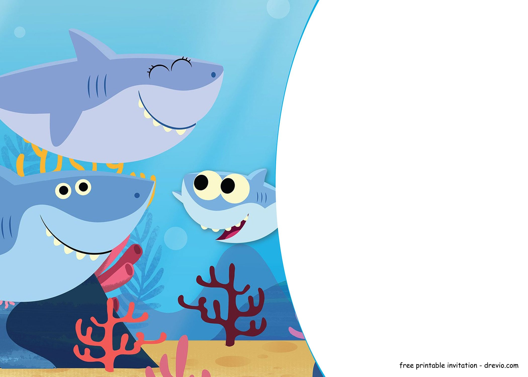 Free Shark Baby Shark Invitation Templates Free
