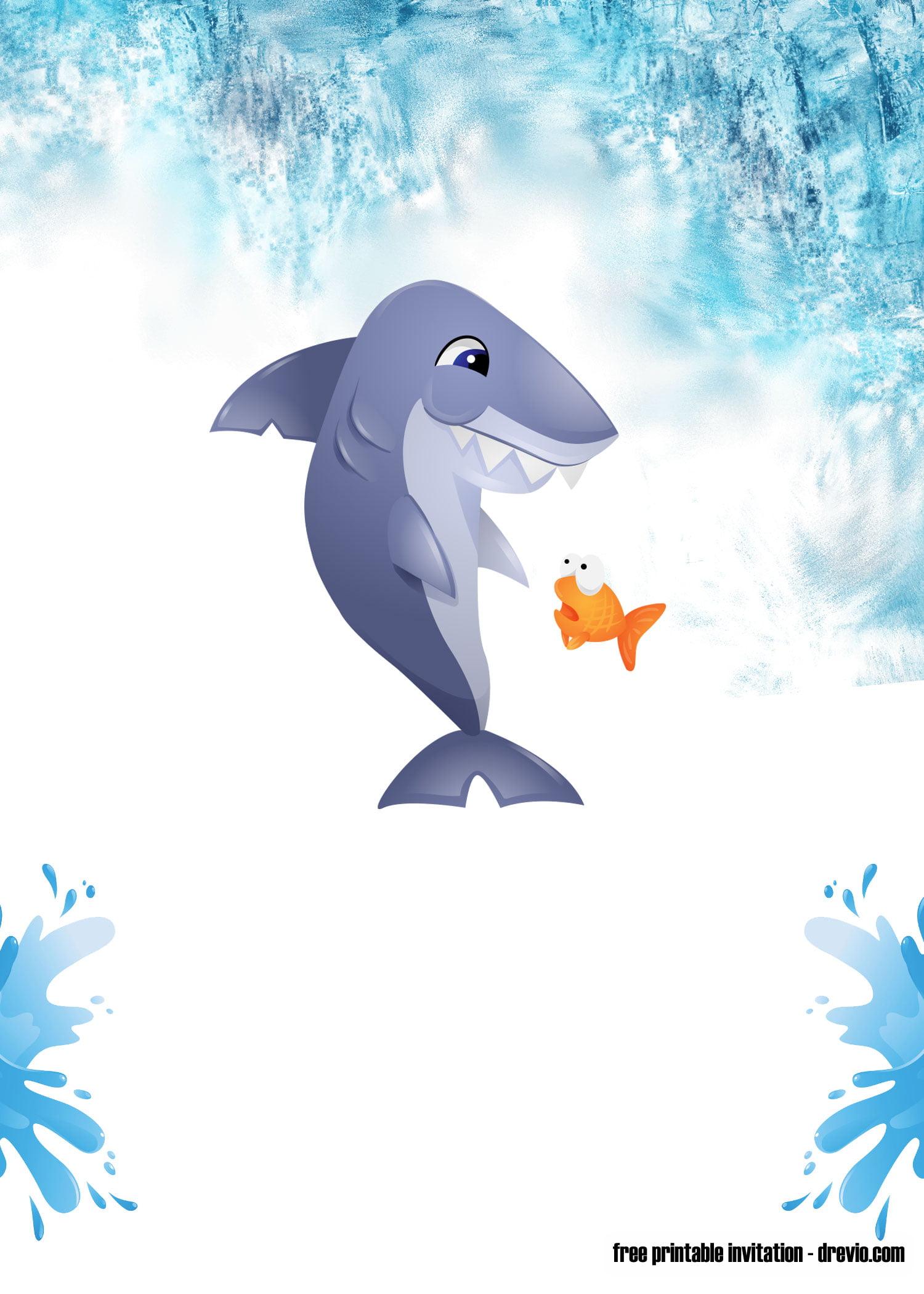Free Shark Baby Shark Invitation Templates Free
