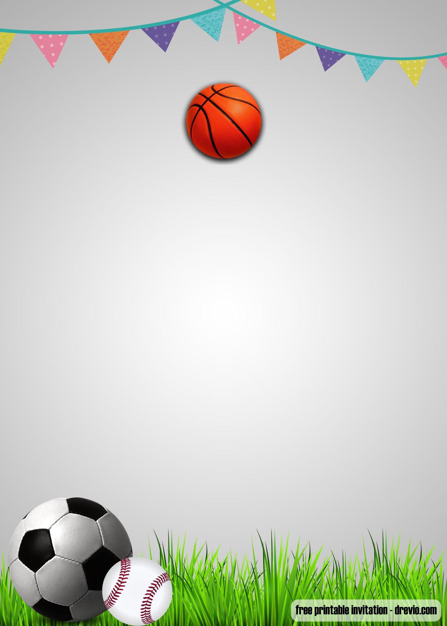 free printable sports themed birthday