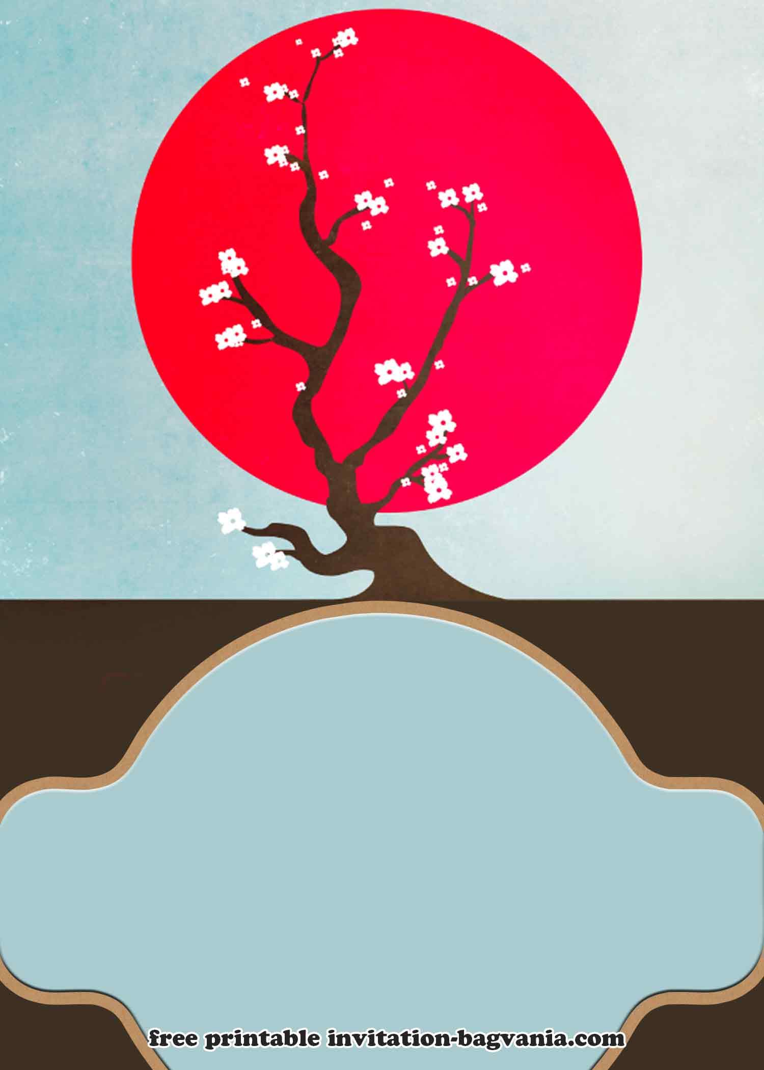 free japanese picnic style invitation
