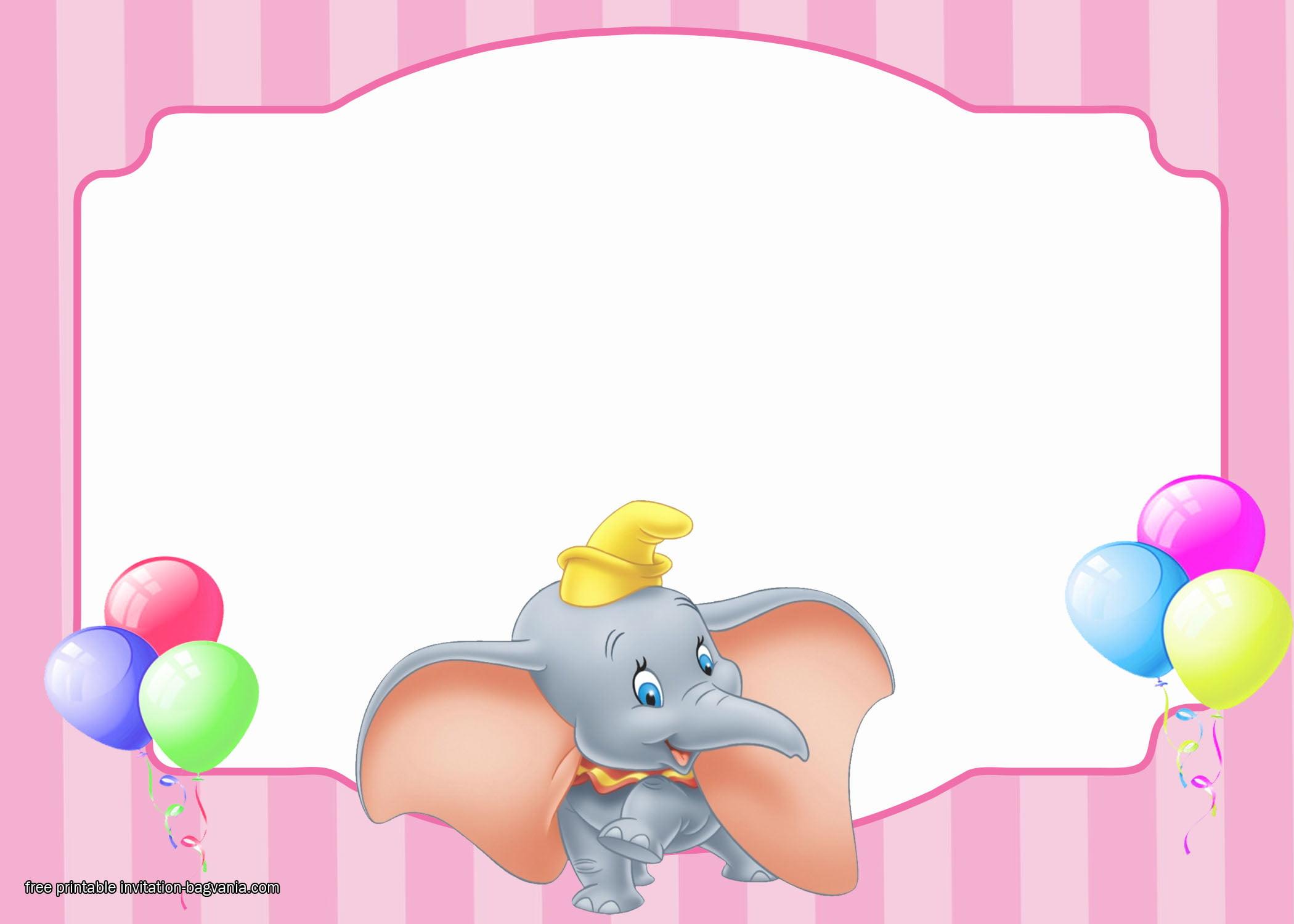 Free Dumbo Birthday Invitation Templates Bagvania
