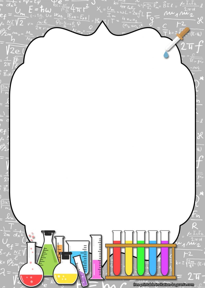 free printable science party invitation