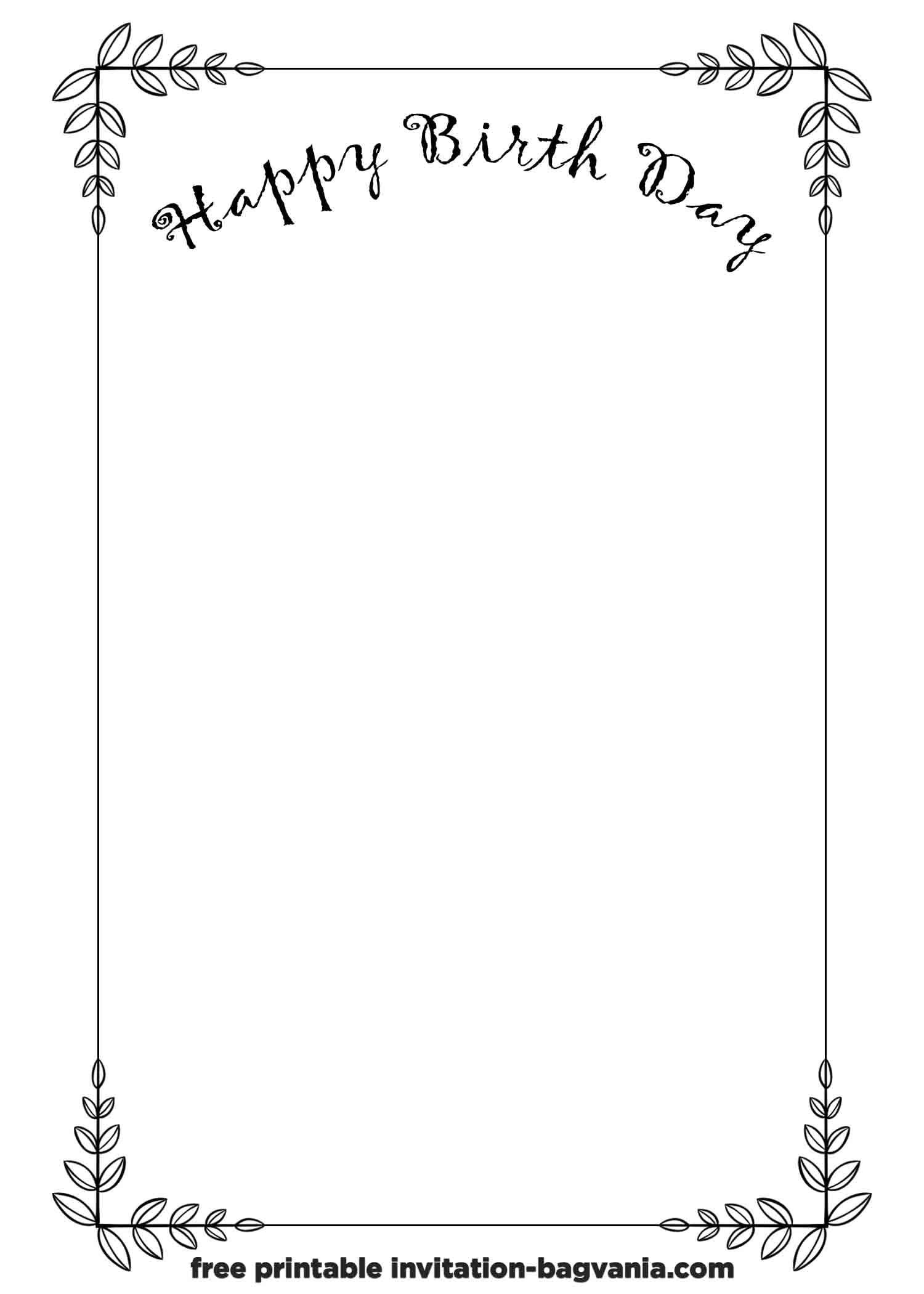 white birthday invitation templates