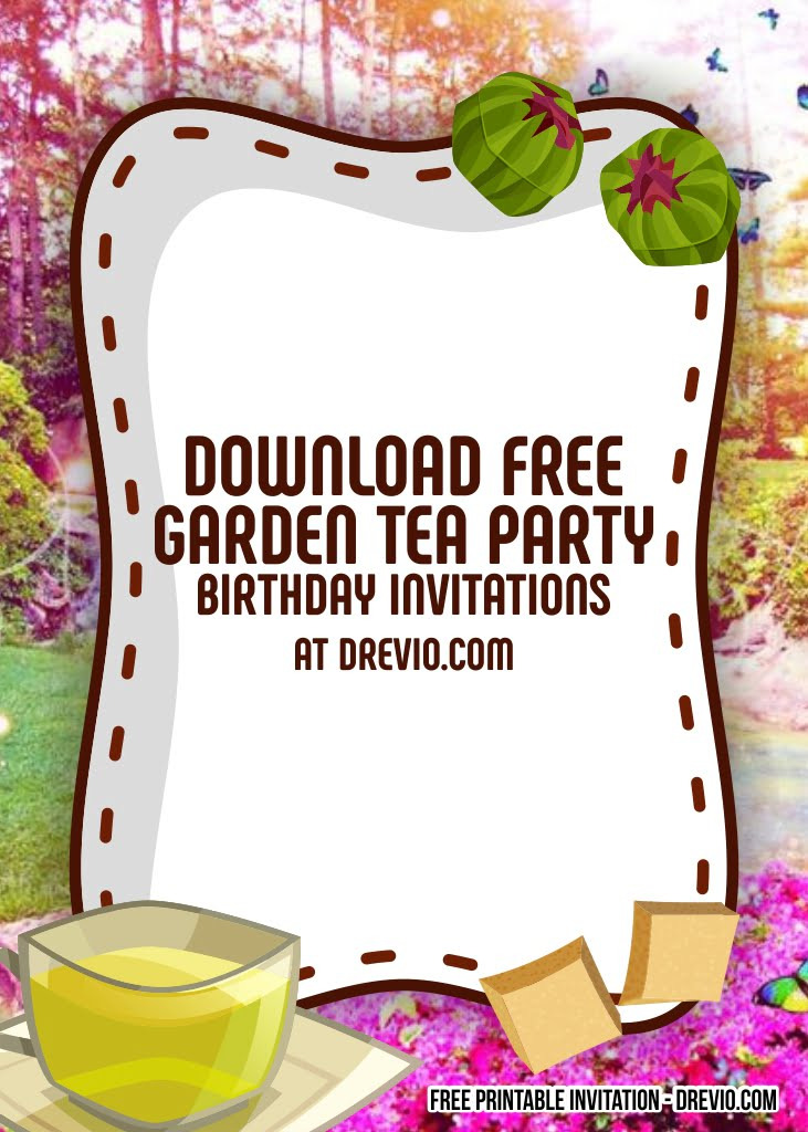 free garden tea party invitation