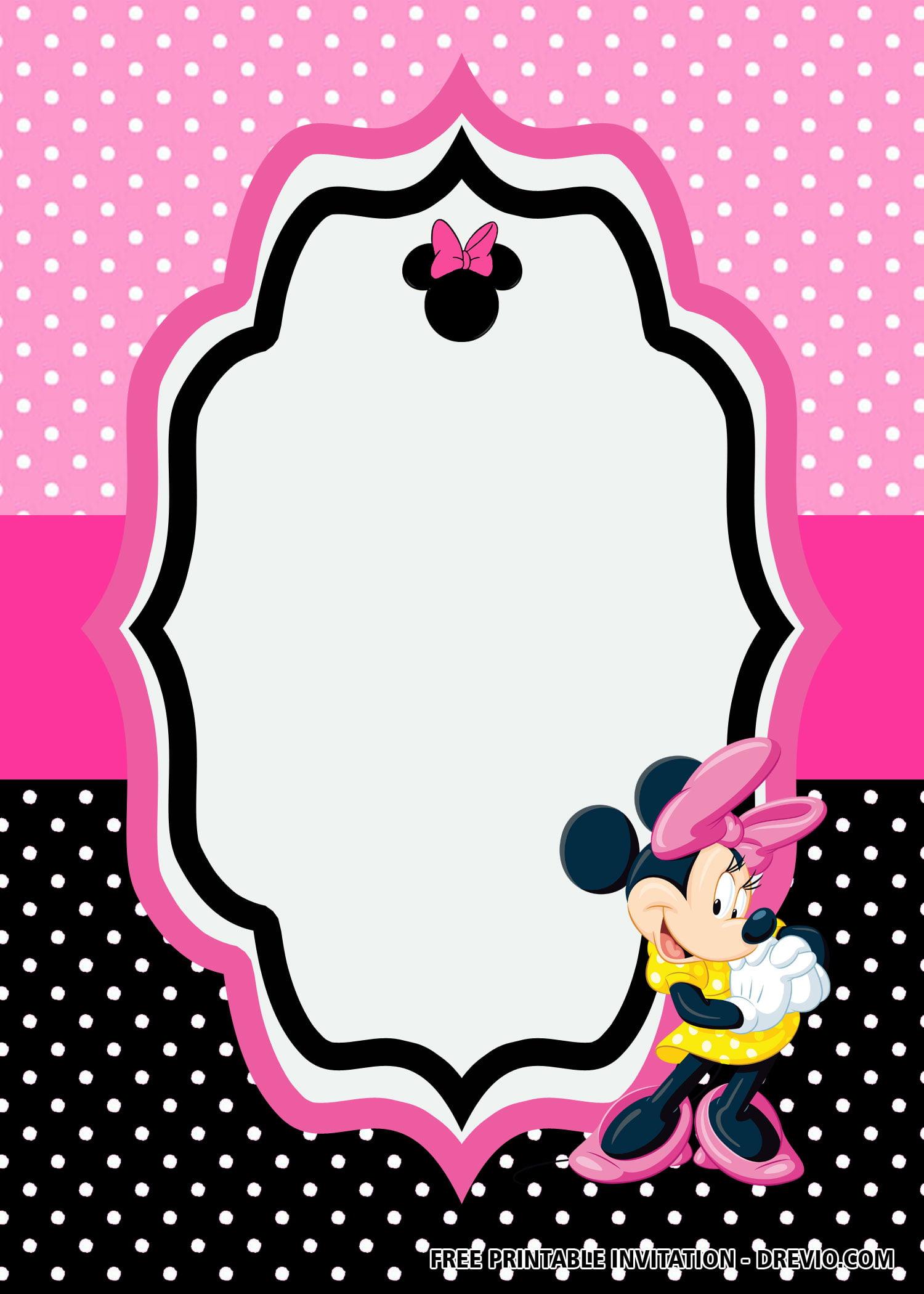 Free Minnie Mouse Pink Birthday Invitation Templates Free Printable Birthday Invitation Templates Bagvania