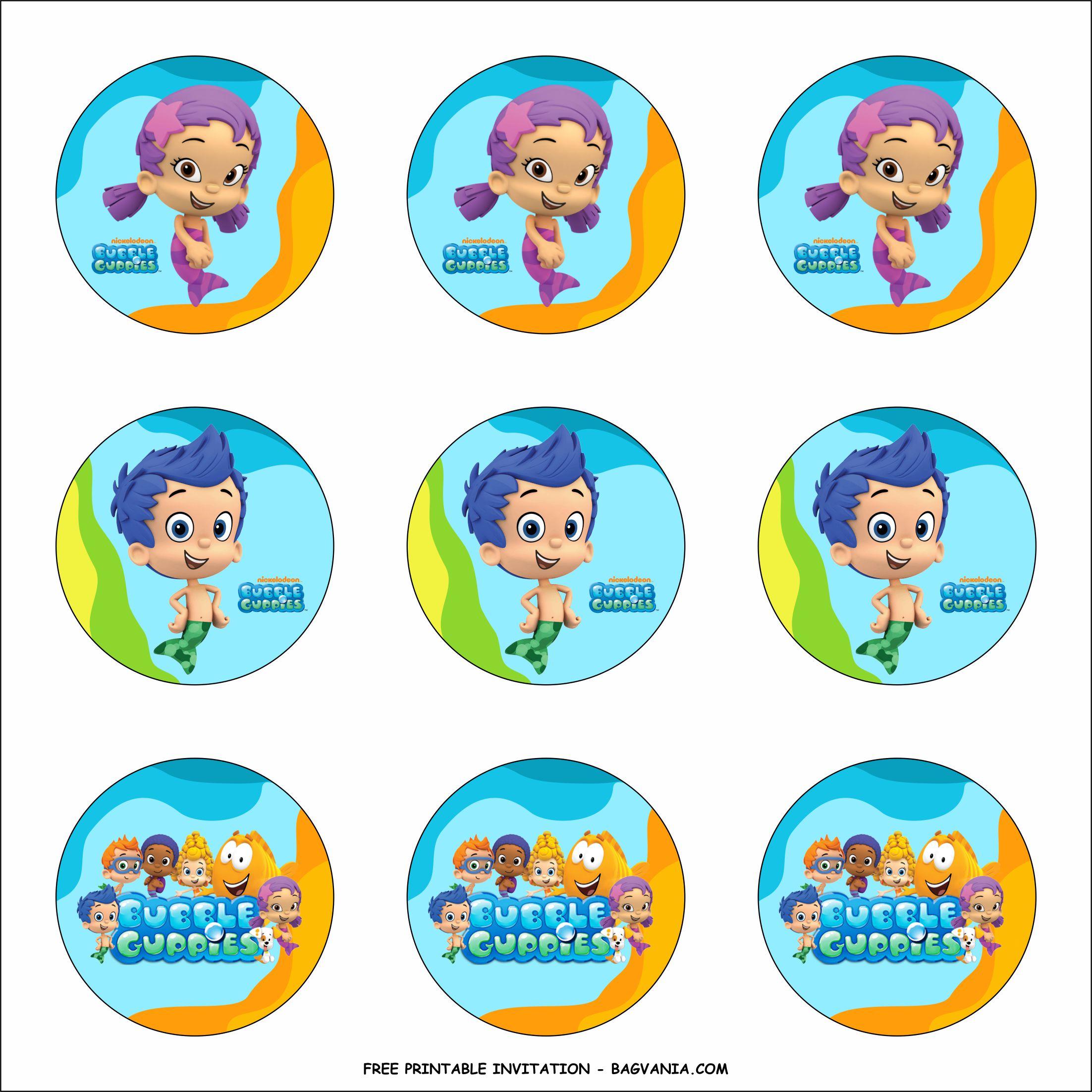 Free Printable Bubble Guppy Birthday Party Kits Template Free Printable Birthday Invitation Templates Bagvania