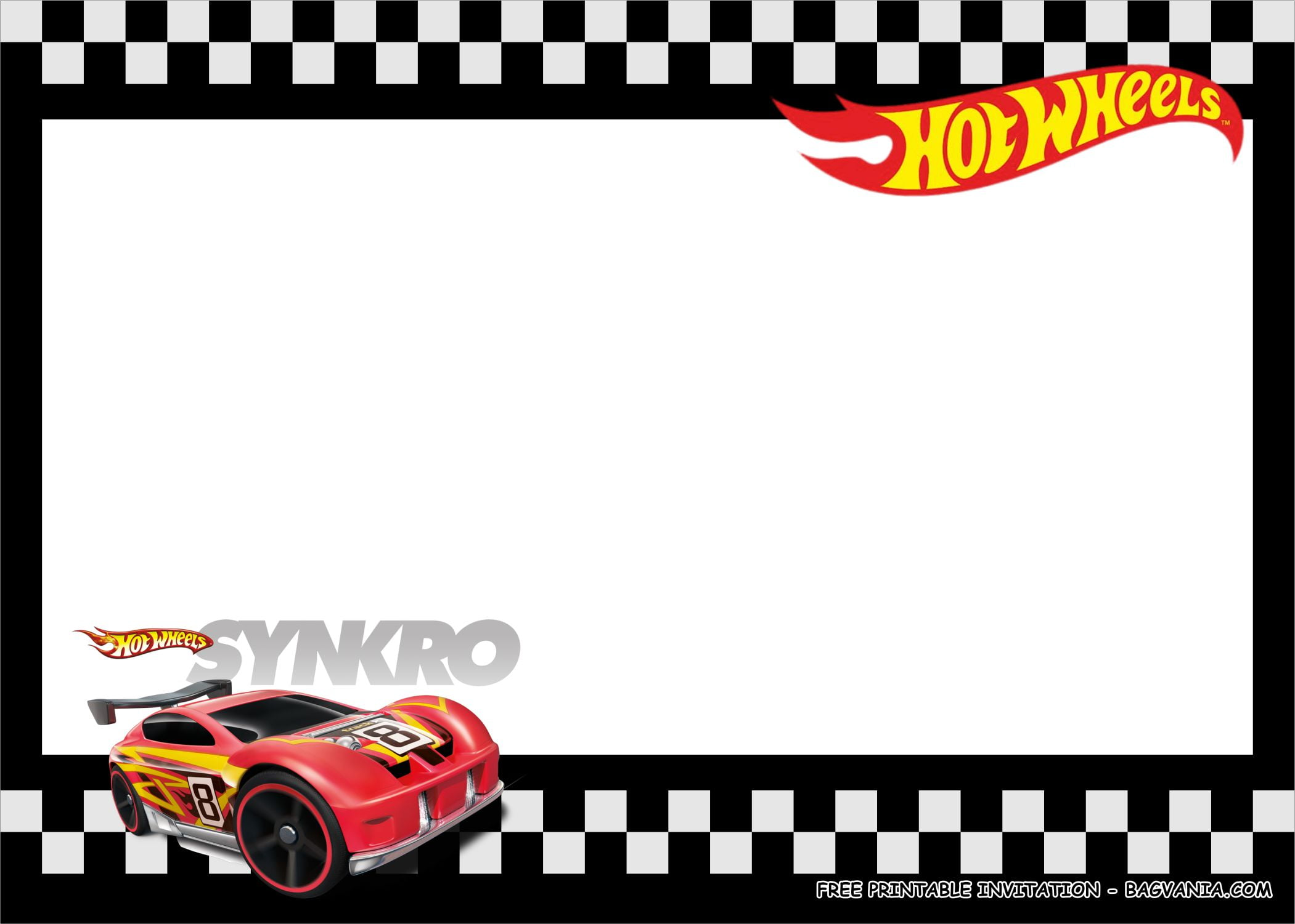 hot wheels birthday party kits template