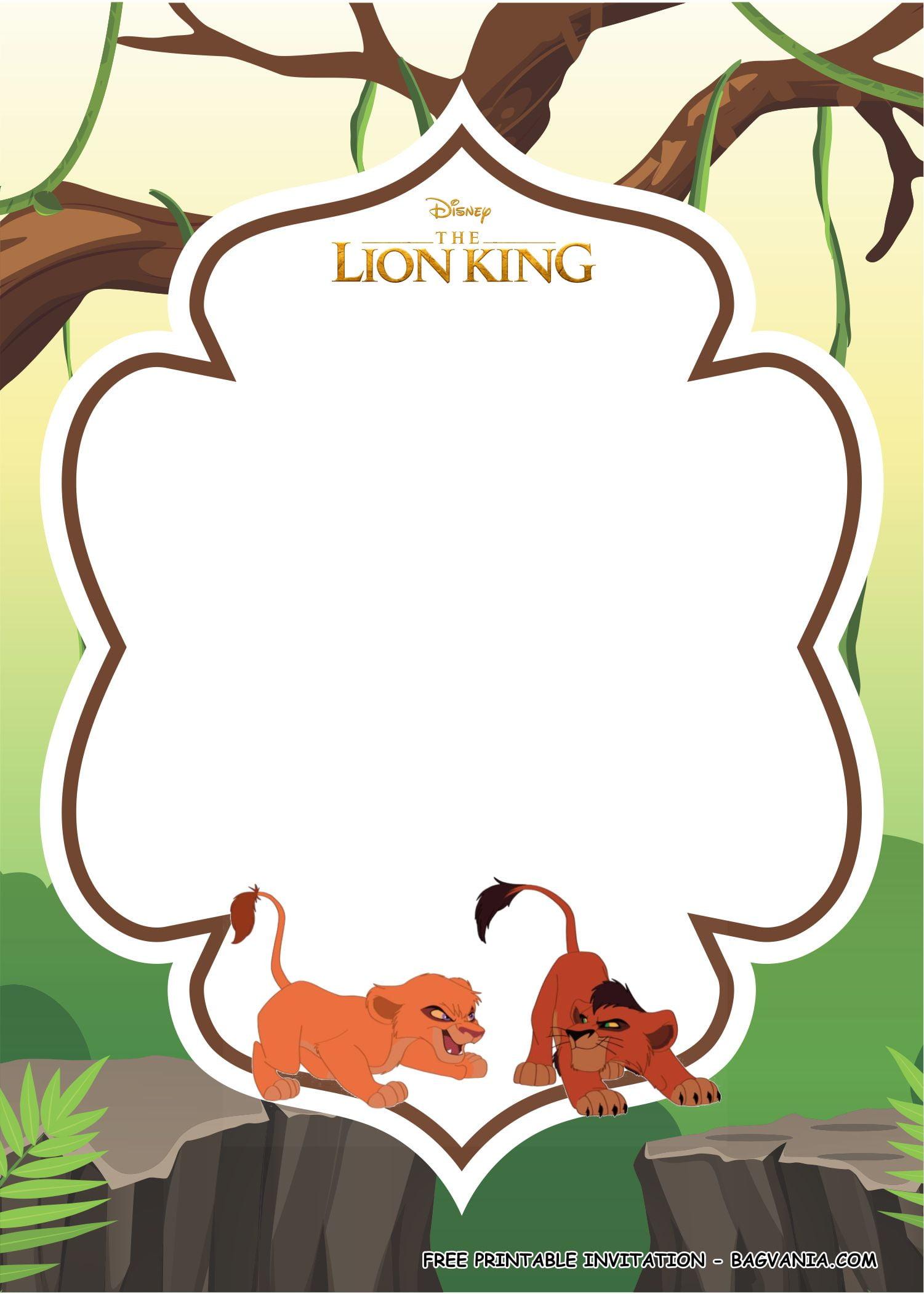 Free Printable Lion King Birthday Party Kits Template
