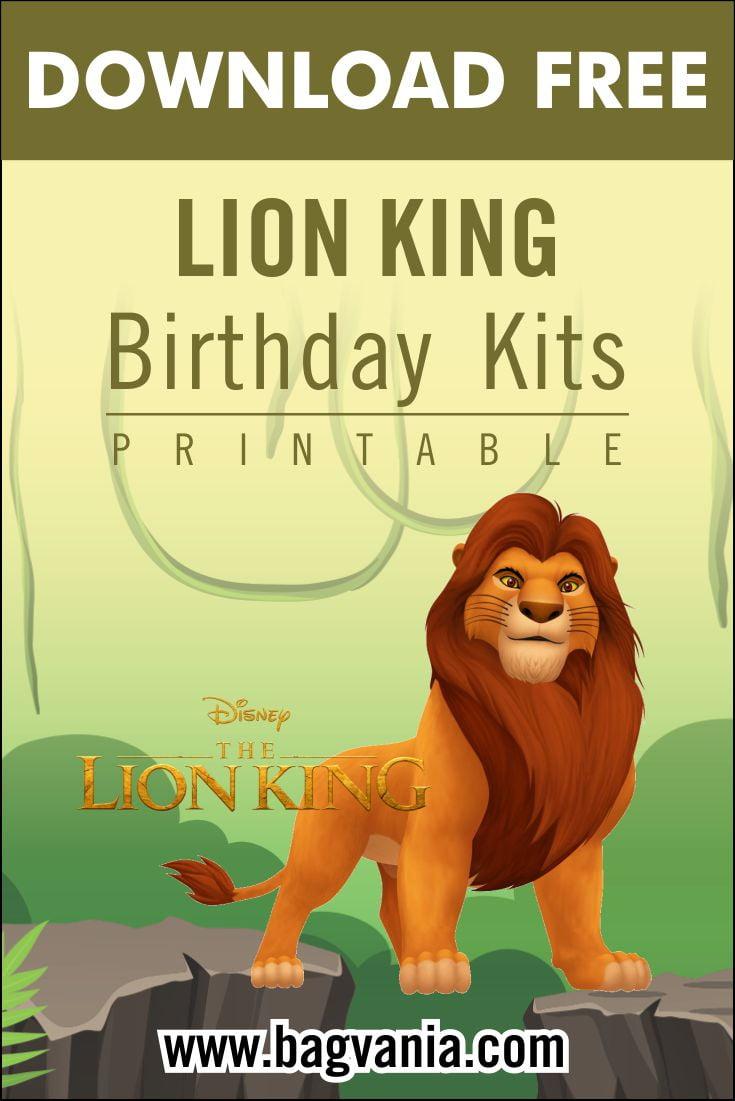 lion king pinterest free printable