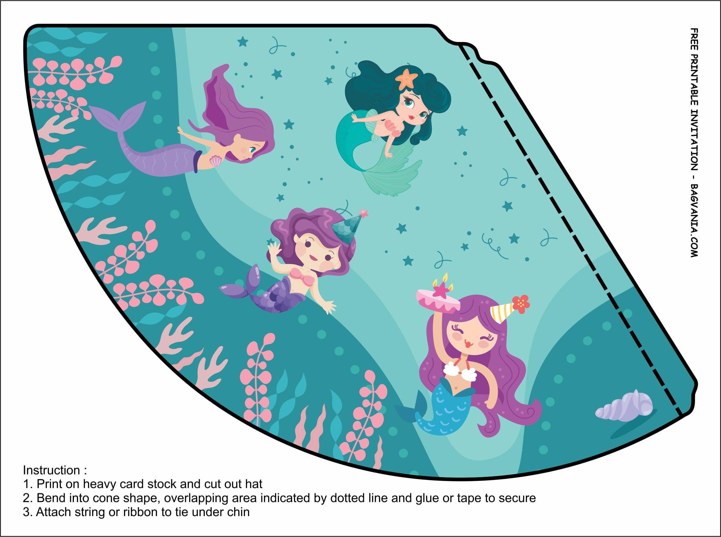 free printable mermaid birthday party