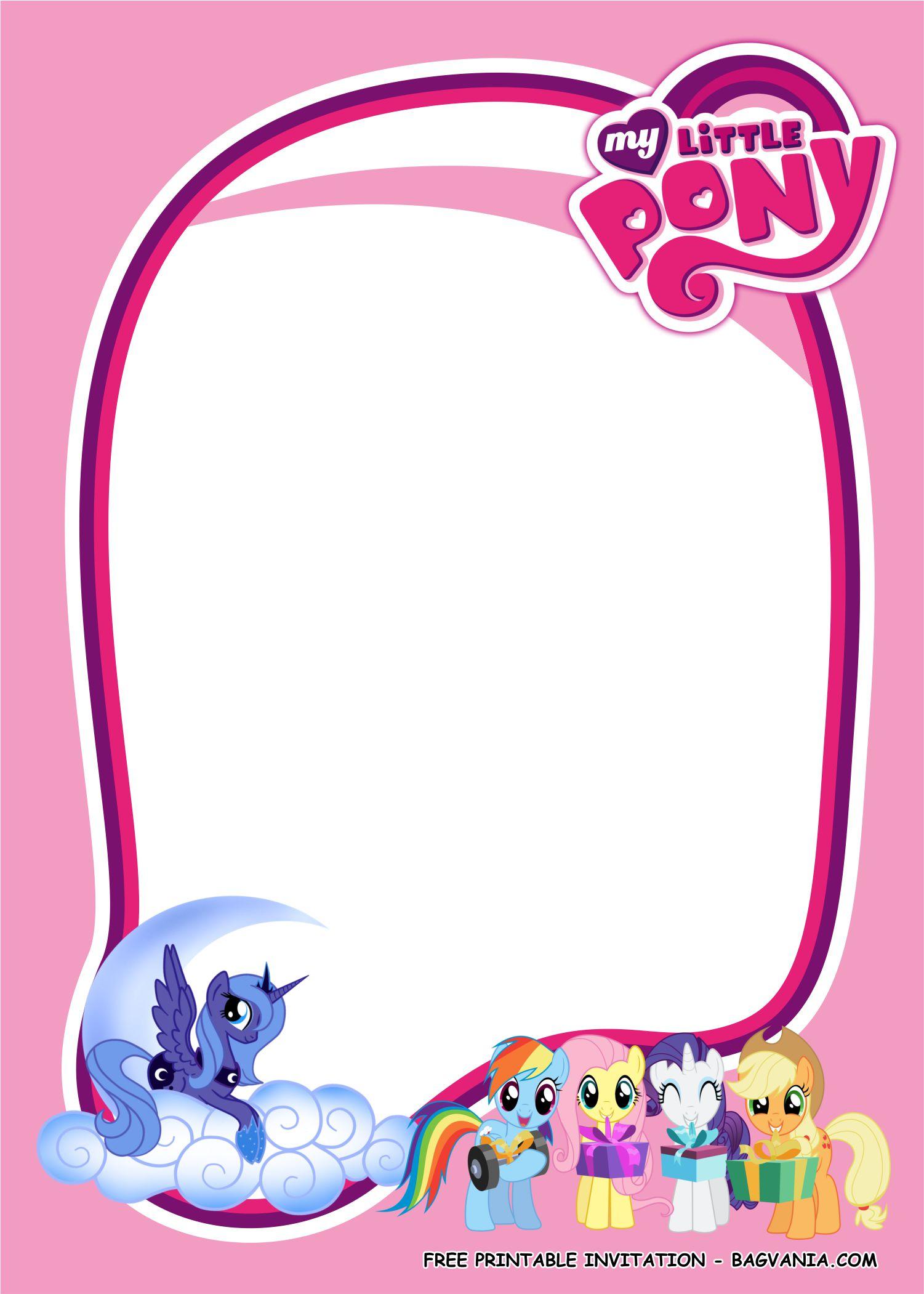 my little pony invitation templates 1