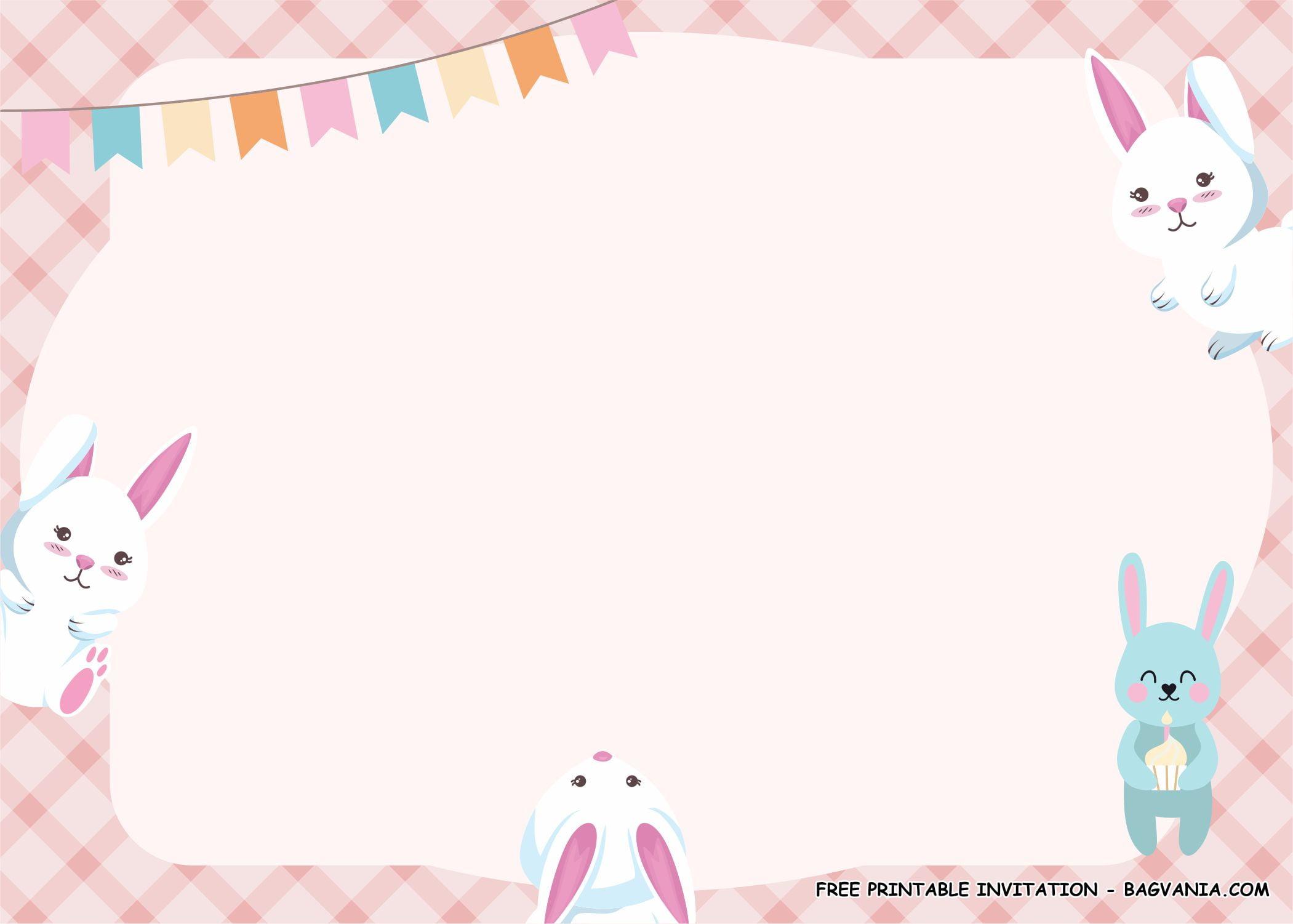 rabbit birthday party kits template