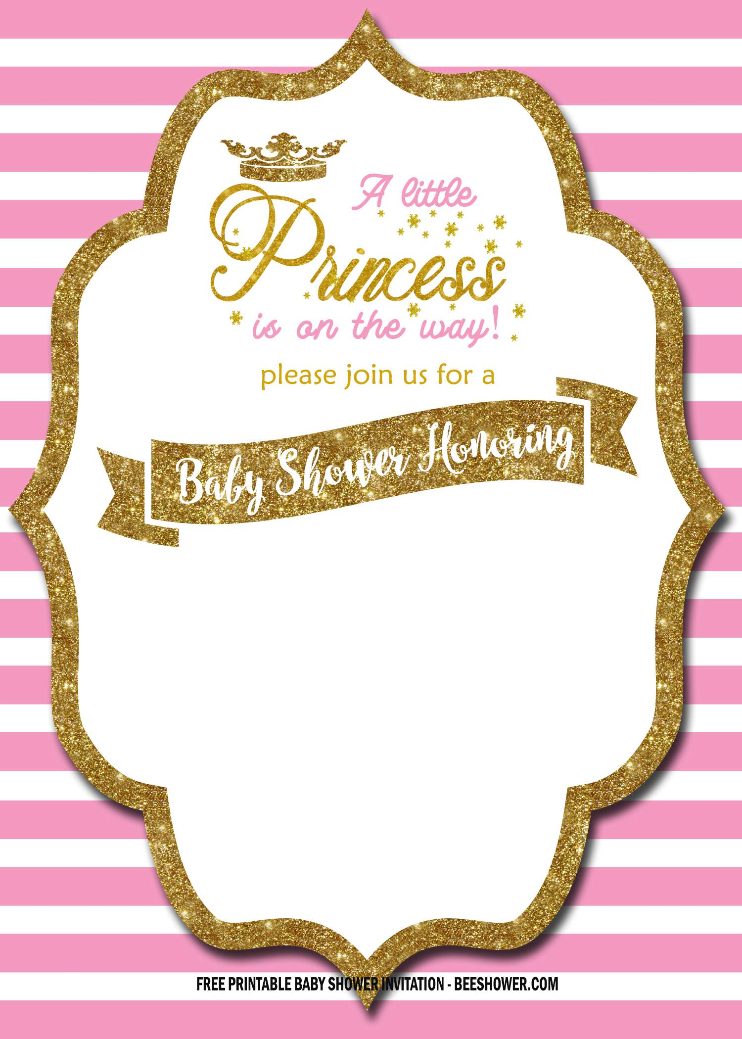Free Royal Pink And Gold Invitation Templates Free