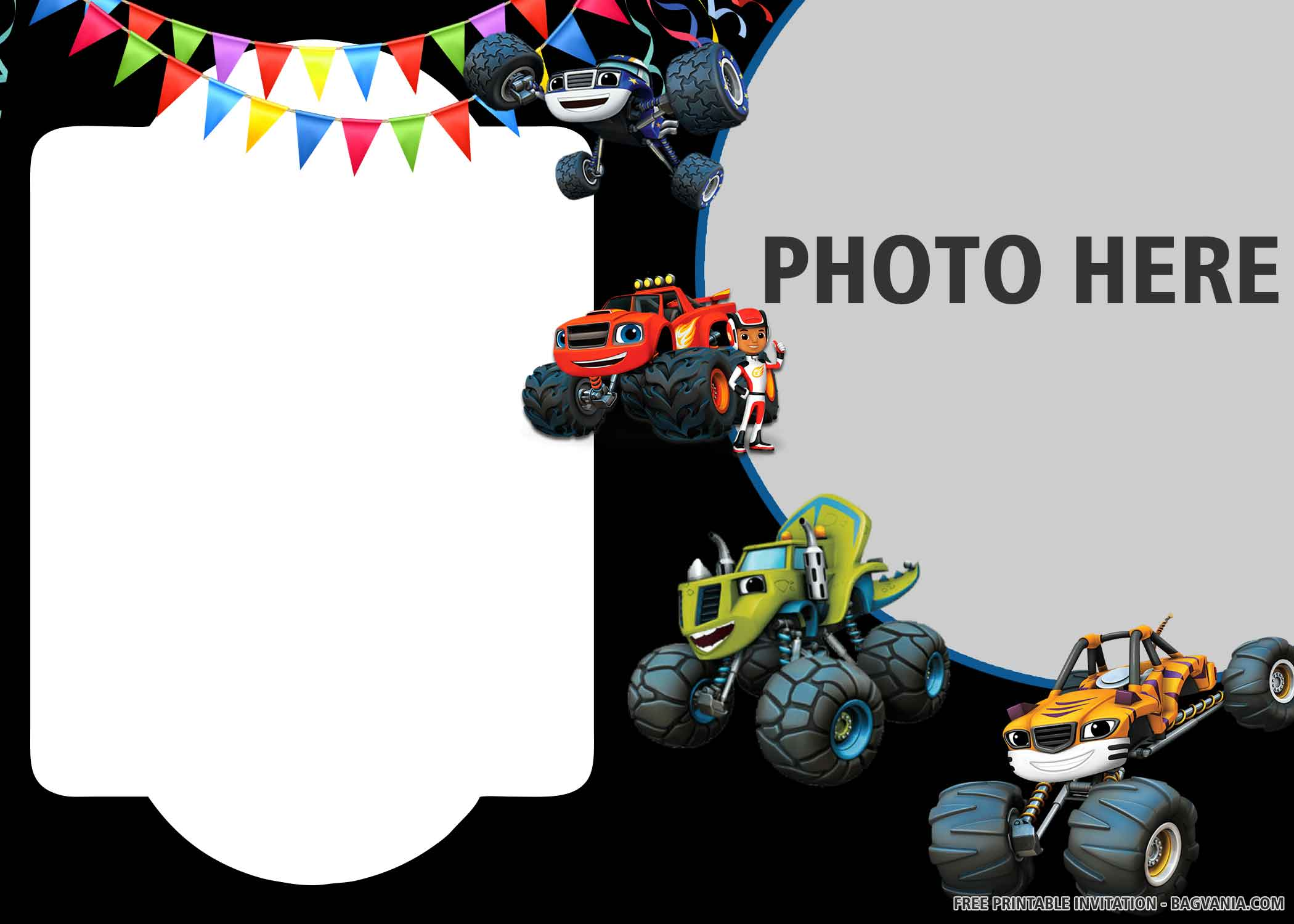 free printable monster cars birthday