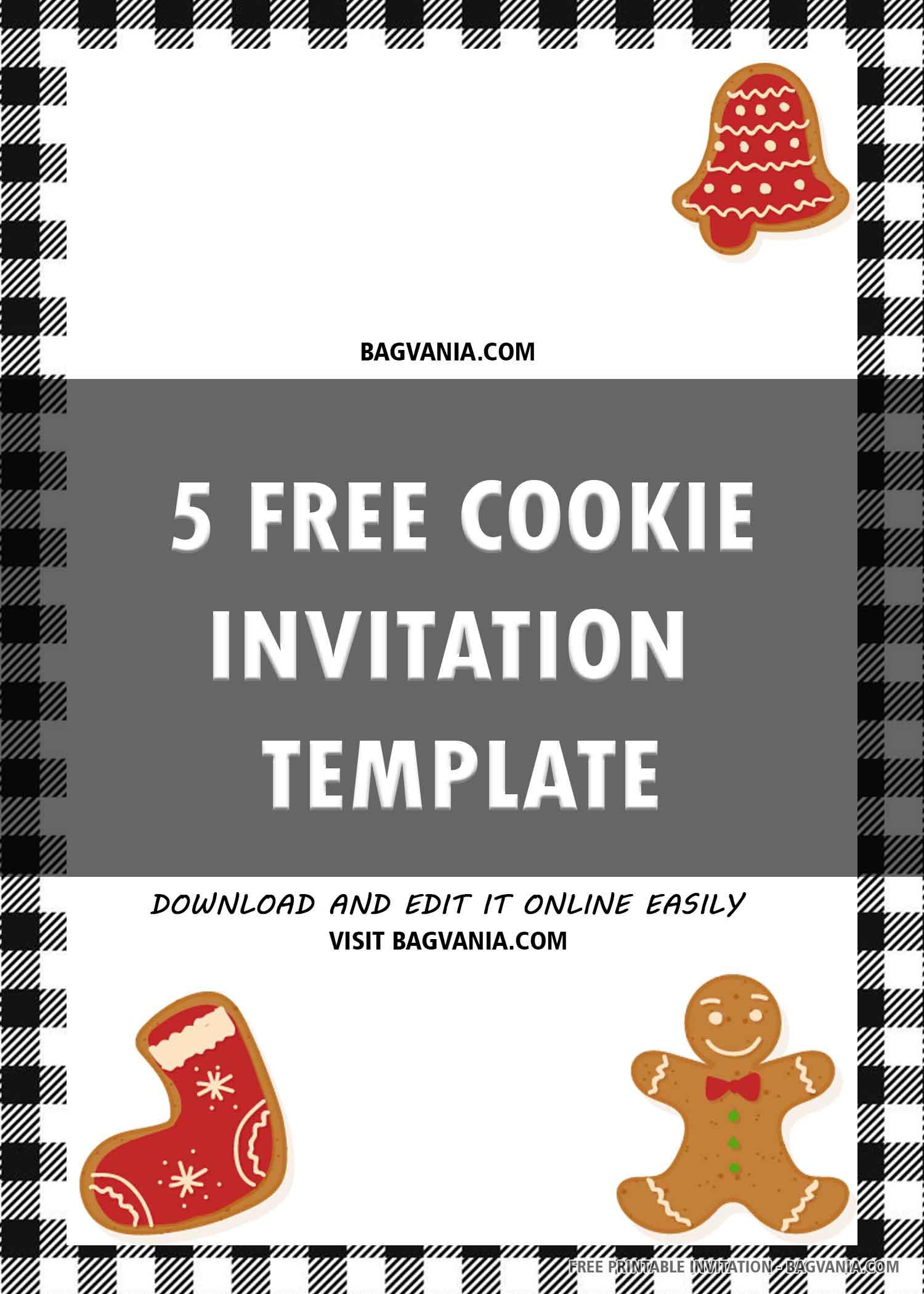 Free Printable Christmas Cookie Decoration Birthday